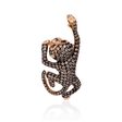 1.57ct Diamond 18k Rose Gold and Black Rhodium Monkey Pendant