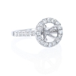 .59ct Diamond Platinum Halo Engagement Ring Setting