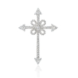 1.00ct Diamond 18k White Gold Cross Pendant
