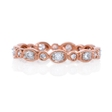 .28ct Diamond Antique Style 18k Rose Gold Eternity Ring