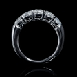 1.66ct Diamond 18k White Gold Five Stone Wedding Band Ring