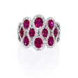 .73t Diamond and Ruby 18k White Gold Ring