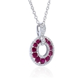 .29ct Diamond and Ruby 18k White Gold Pendant