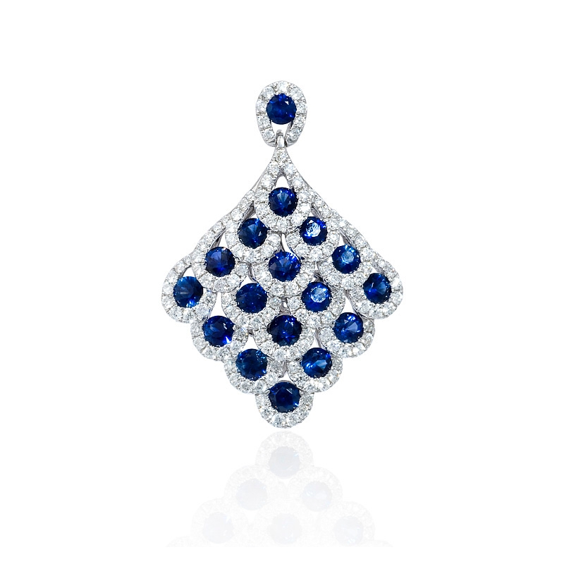 76ct diamond and blue sapphire 18k white gold pendant 76ct diamond and blue sapphire 18k white gold pendant aloadofball Image collections