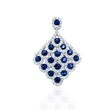 .76ct Diamond and Blue Sapphire 18k White Gold Pendant