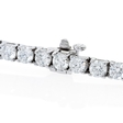 7.70ct Diamond 18k White Gold Tennis Bracelet