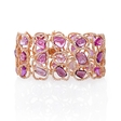6.36ct Diamond and Sapphire 18k Rose Gold Bracelet