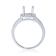 .38ct Diamond 18k White Gold Halo Engagement Ring Setting