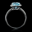 .17ct Diamond and Blue Topaz 14k White Gold Ring