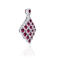 .73ct Diamond and Ruby 18k White Gold Pendant