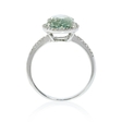.17ct Diamond and Green Amethyst 14k White Gold Ring