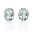 .21ct Diamond and Green Amethyst 14k White Gold Earrings