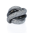 3.98ct Diamond and Black Rhodium 18k White Gold Ring