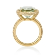 .70ct Diamond and Green Amethyst 14k Yellow Gold Ring