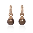 1.05ct Diamond and South Sea Pearl 18k Rose Gold Dangle Earrings