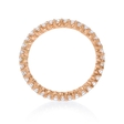 .76ct Diamond 18k Rose Gold Eternity Ring