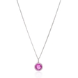 .11ct Diamond and Pink Quartz 14k White Gold Pendant Necklace