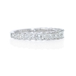 1.54ct Diamond 18k White Gold Princess Cut Wedding Band Ring