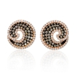 2.62ct Diamond and Black Rhodium 18k Rose Gold Earrings