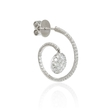 2.48ct Diamond 18k White Gold Hoop Earrings