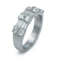 1.17ct Diamond 18k White Gold Wedding Band Ring