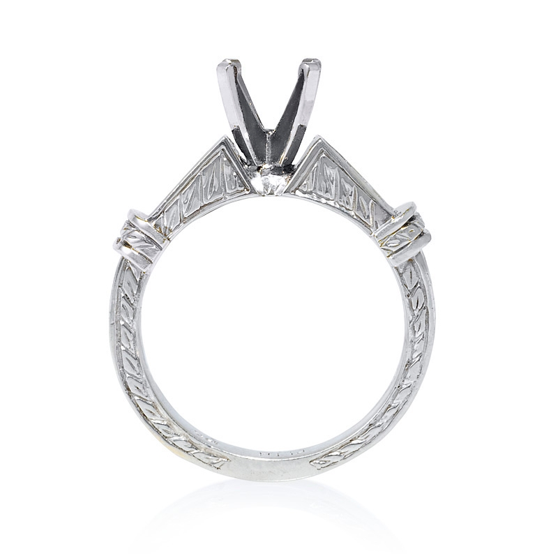 67ct antique style platinum and 18k white gold