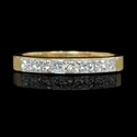 Diamond 14k Yellow Gold Engagement Ring Setting and Wedding Band Set