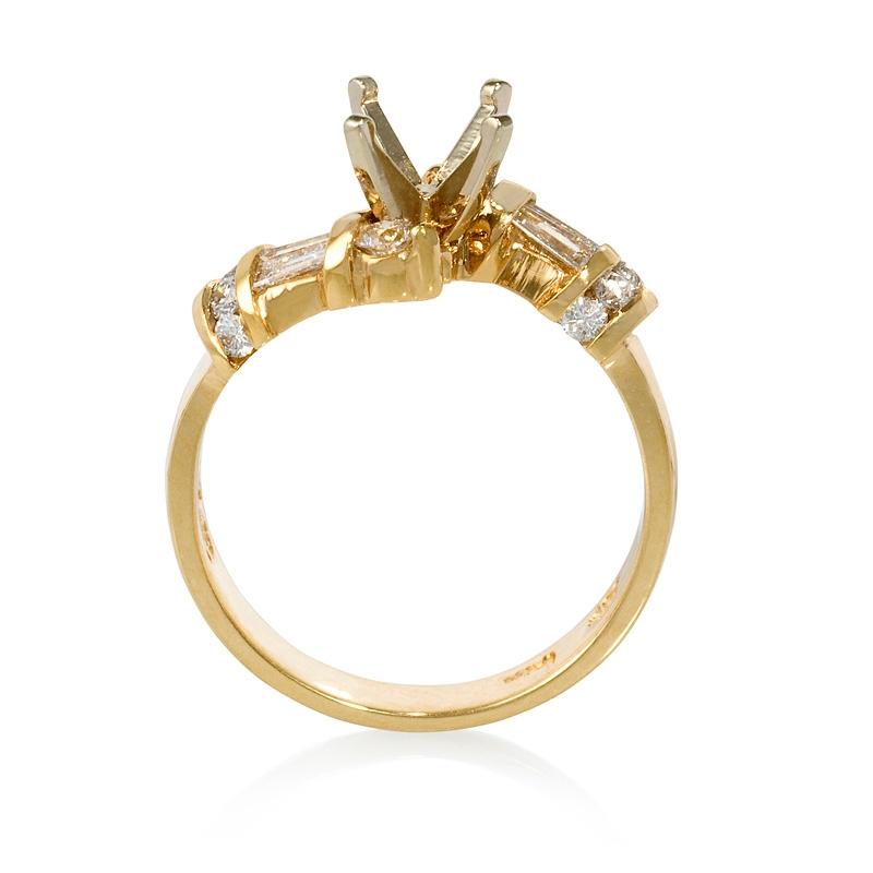 Ring Settings Yellow Gold Engagement Ring Settings