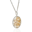 2.02ct Diamond 14k Two Tone Gold Pendant