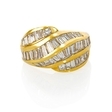 3.60ct Diamond 18k Yellow Gold Ring