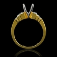 .73ct Christoper Designs Diamond 18k Yellow Gold Engagement Ring Setting