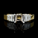 Christoper Designs Diamond 18k Yellow Gold Engagement Ring Setting