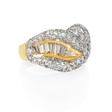 3.30ct Diamond 18k Two Tone Gold Ring
