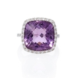 .40ct Diamond and Purple Amethyst 14k White Gold Ring