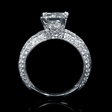 .76ct Diamond Antique Style 18k White Gold Engagement Ring Setting