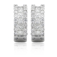 1.62ct Diamond 18k White Gold Huggie Earrings