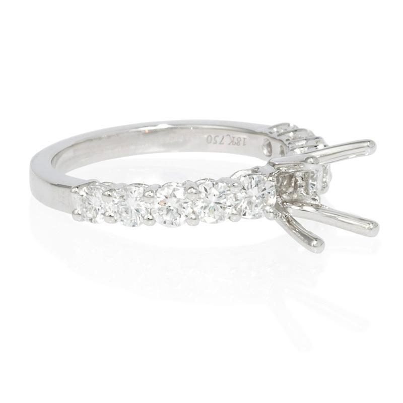 96ct Diamond Platinum Engagement Ring Setting