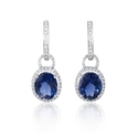 Diamond and Blue Iolite 18k White Gold Dangle Earrings
