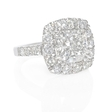 1.37ct Diamond 18k White Gold Halo Engagement Ring Setting