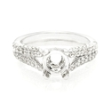 Diamond 18k White Gold Split Shank Engagement Ring Setting
