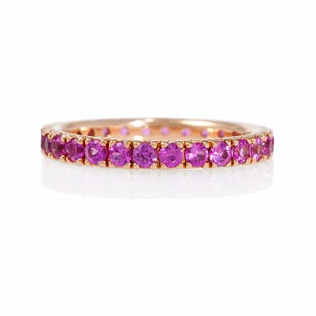 Pink Sapphire 18k Rose Gold Eternity Ring