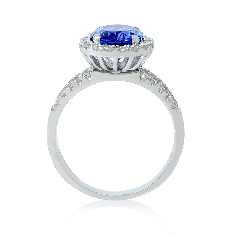 66ct and tanzanite 18k white gold ring