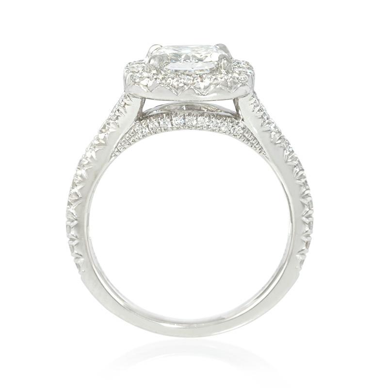 70ct Diamond Platinum Halo Engagement Ring Setting