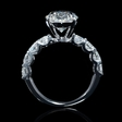 1.55ct Diamond 18k White Gold Eight Stone Common Prong Engagement Ring Setting