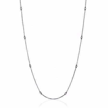 Diamonds By The Yard 14k Black Rhodium Necklace