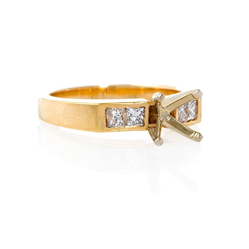 32ct Diamond 18k Yellow Gold Engagement Ring Setting