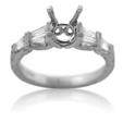 .41ct Diamond Antique Style Platinum Engagement Ring Mounting