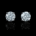 Diamond 2.03 Carats 14k White Gold Stud Earrings
