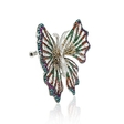 2.85ct Diamond 18k White Gold and Black Rhodium Butterfly Brooch Pin
