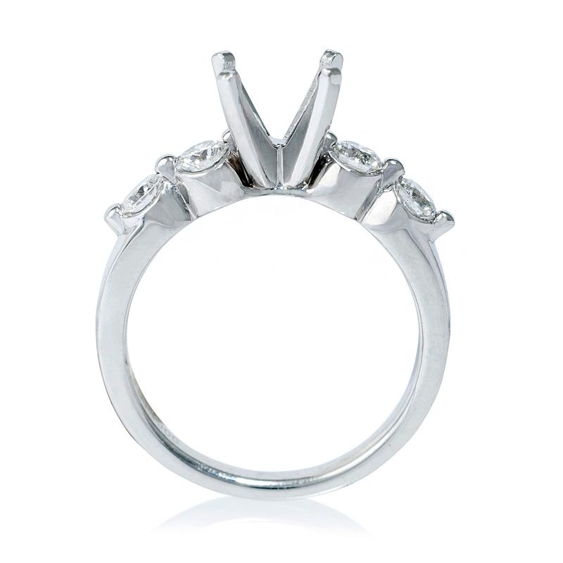 49ct Diamond Platinum Engagement Ring Setting